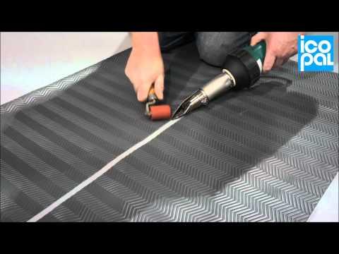Walkway Installation Monarplan PVC Single Ply Roofing