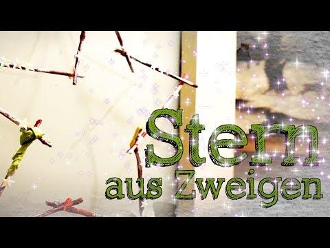 DIY Stern aus Zweigen - Shabby Chic - Herbst & Winter - Tür- und Fensterdeko