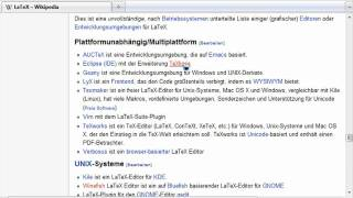 Editoren Und Distributionen - (LaTeX-1-003)