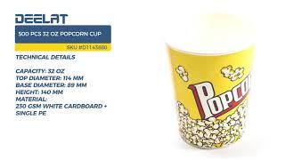 500 pcs 32 oz Popcorn Cup