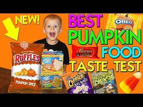 Pumpkin Spice Ruffles!! Strange Gross Fall Foods Taste Challenge || Family Fun Pack