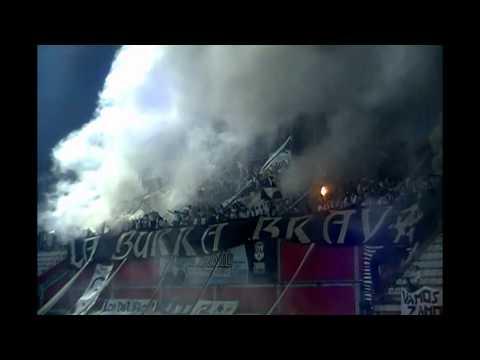"""""""Burra Brava Copa Libertadores 2014 Vs Santa Fe."""" Barra: La Burra Brava • Club: Zamora"""