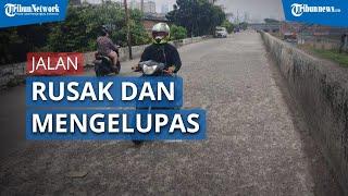 Kondisi Beton Retak dan Mengelupas di Jalan Inspeksi KBB, Duri Pulo