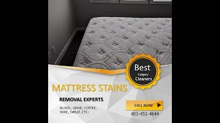 Calgary Best Mattress Stain Removal; Mattress Cleaning