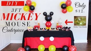 Mickey Mouse DIY Party Decorations | Mickey Mouse DIY Centerpiece | DIY Kids Party Decor For Boys