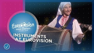 Instruments at the Eurovision Song Contest