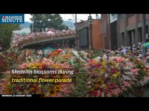 Medellin blossoms during traditional flower parade