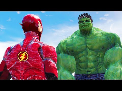 Download THE INCREDIBLE HULK VS THE FLASH - EPIC BATTLE HD Mp4 3GP Video and MP3