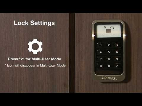 Screen capture of Master Lock 3681 ADA-Compliant Electronic Built-In Locker Lock Display Options