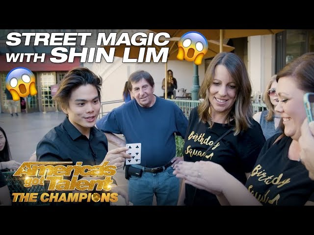 WOW! Shin Lim Blows Minds with Street Magic - America's Got Talent: The Champions