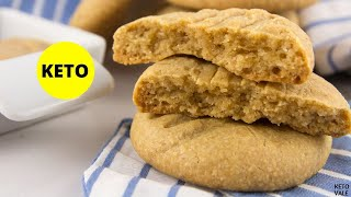 Peanut Butter Coconut Flour Cookies - Low-Carb Sugar-Free Keto-friendly Recipe
