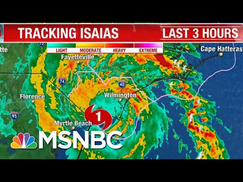 Hurricane Isaias Makes Landfall In North Carolina As Category 1 Storm   The 11th Hour   MSNBC