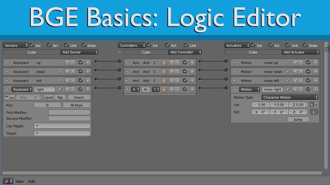 BGE Basics: Logic editor