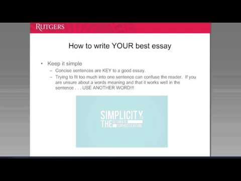 Rutgers college admissions essay