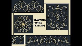 New Creative Way To Draw Beautiful Floral Patterns