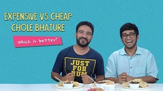 Expensive Vs Cheap Chole Bhature... Which Is Better? | Ft. Akshay & Arushi | Ok Tested