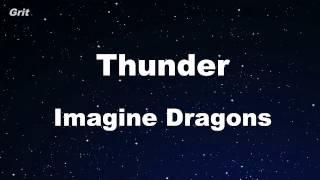 Thunder - Imagine Dragons Karaoke 【No Guide Melody】 Instrumental