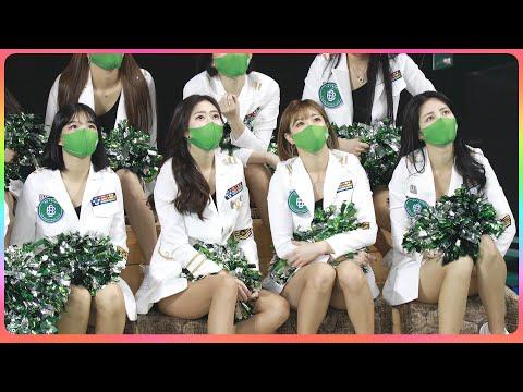 [4K] 치어리더 원주DB (cheerleader) - 1/2쿼터 4명 응원 @남자농구(원주DB)/21011…