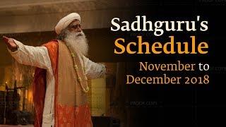 Sadhguru's Schedule – Nov & Dec 2018