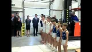 preview picture of video 'Rábalux Logisztikai Központ Győr avató - szertorna bemutató 2012.04.12.'