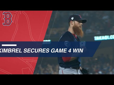 Red Sox hold on in the 9th inning to win Game 4