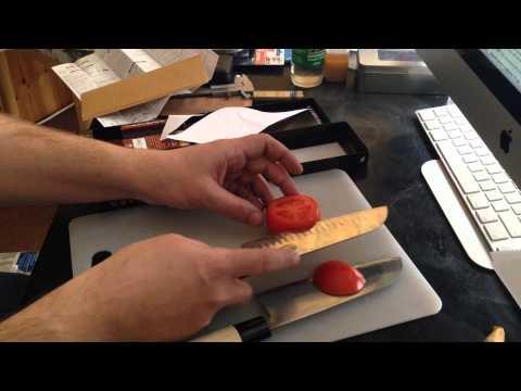Почта России-оцениваем работу и unboxing TOJIRO Shirogami Santoku Knife + микроскоп usb