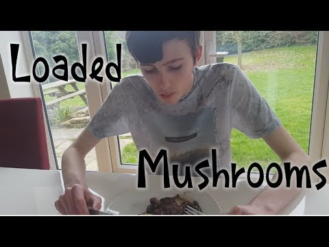 Cooking Up Some Loaded Mushrooms (Loaded With Cheese and Ham)