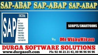 SAP || SAP -ABAP- SCRIPTS /SMART FORMS