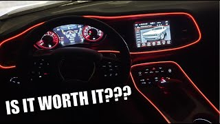 NEW $15 MOD: HOW TO INSTALL EL WIRE INTERIOR LIGHTING ON THE DODGE CHALLENGER SCAT PACK