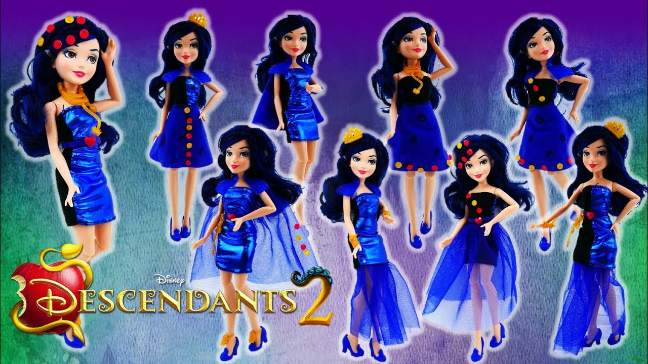 Disney Descendants 2 Movie Evie's 4 Hearts Doll Review