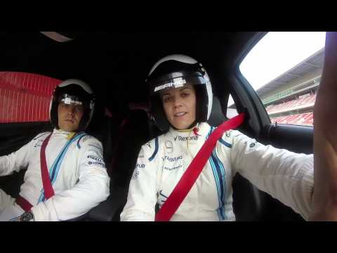 Susie Wolff joins Valtteri Bottas for a hot lap