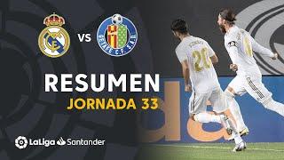 Resumen de Real Madrid vs Getafe CF (1-0)