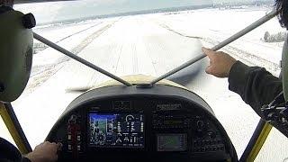 Winter flight in the Zenith STOL CH 750.