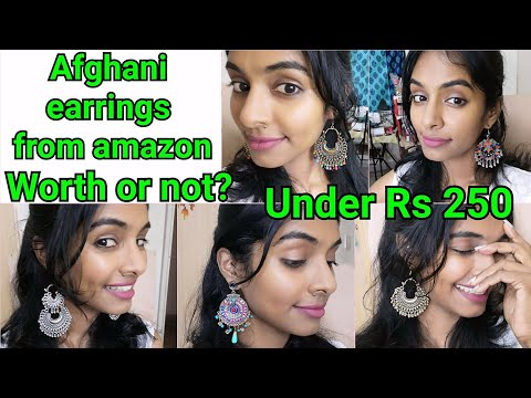 Afghani earrings from Amazon|Earrings under rs 250|Best quality jewellery from Amazon|Asvi