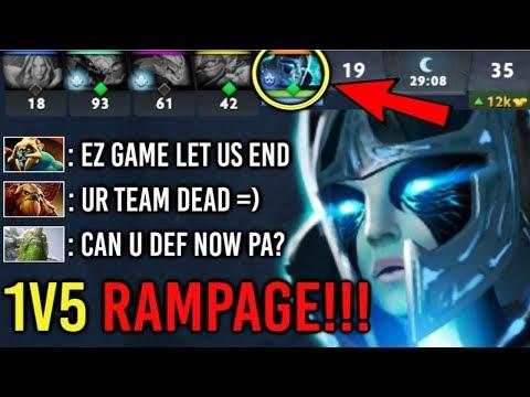 1vs5 RAMPAGE! Divine Rapier PA vs Megacreeps All Team Dead EPIC Comeback by SpeedMan 7.22 Dota 2