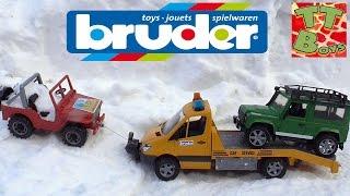 ✔BRUDER. Игорек c Эвакуатором помогает Машинкам / Видео для детей / Tow Truck / Cars for boys ✔
