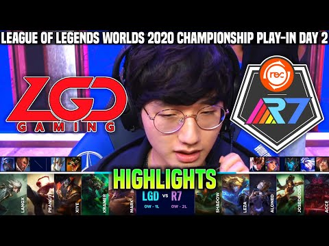 LGD vs R7 Highlights Worlds 2020 Play
