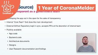 1 Year of CoronaMelder, by Roel Spruit (English)