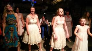HENS SUPRISE FLASH MOB AT KRYSTA & DANS WEDDING