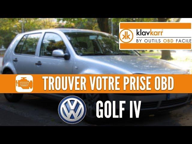 OBD2 connector location in Volkswagen Golf IV (1997 - 2004