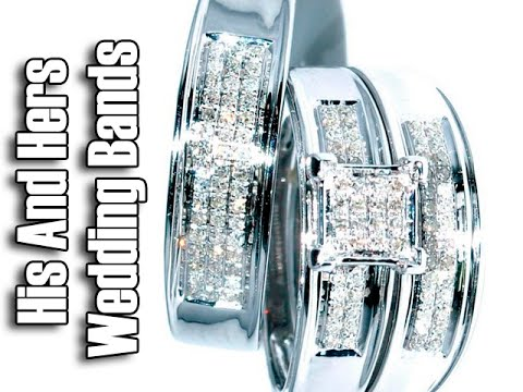 His And Hers Wedding Bands White Gold - Cheap White Gold Wedding Bands