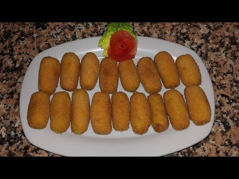 #كروكيطات# الدجاج على الطريقة الاسبانية التقليدية وجبات صيفية🌊