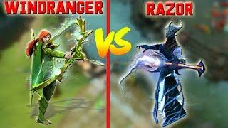7.20 map WINDRANGER vs RAZOR - DOTA BEYOND GODLIKE