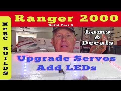 volantex-ranger-2000-fpv-rc-plane-build-part-6--upgrade-servos-add-leds-laminate-decals