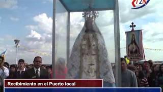 preview picture of video 'La Virgen Peregrina recibimiento en el Puerto de Ituzaingó Corrientes  Tele 2 Noticias'
