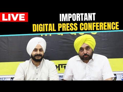LIVE | AAP Lok Sabha MP Bhagwant Mann & MLA Jarnail Singh addressing an Important Press Conference