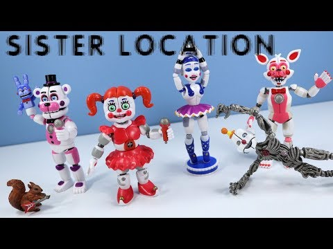 Five Nights at Freddy's FNAF Sister Location Action Figures Funko with Ennard