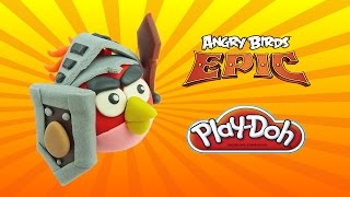 Play Doh Angry Birds Epic Red Bird - How To Make with Playdoh