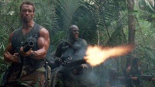Расстрел джунглей в надежде убить Хищника. Хищник. 1987