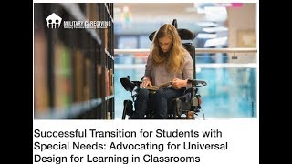 Students With Special Needs: Advocating For Universal Design For Learning In Classrooms